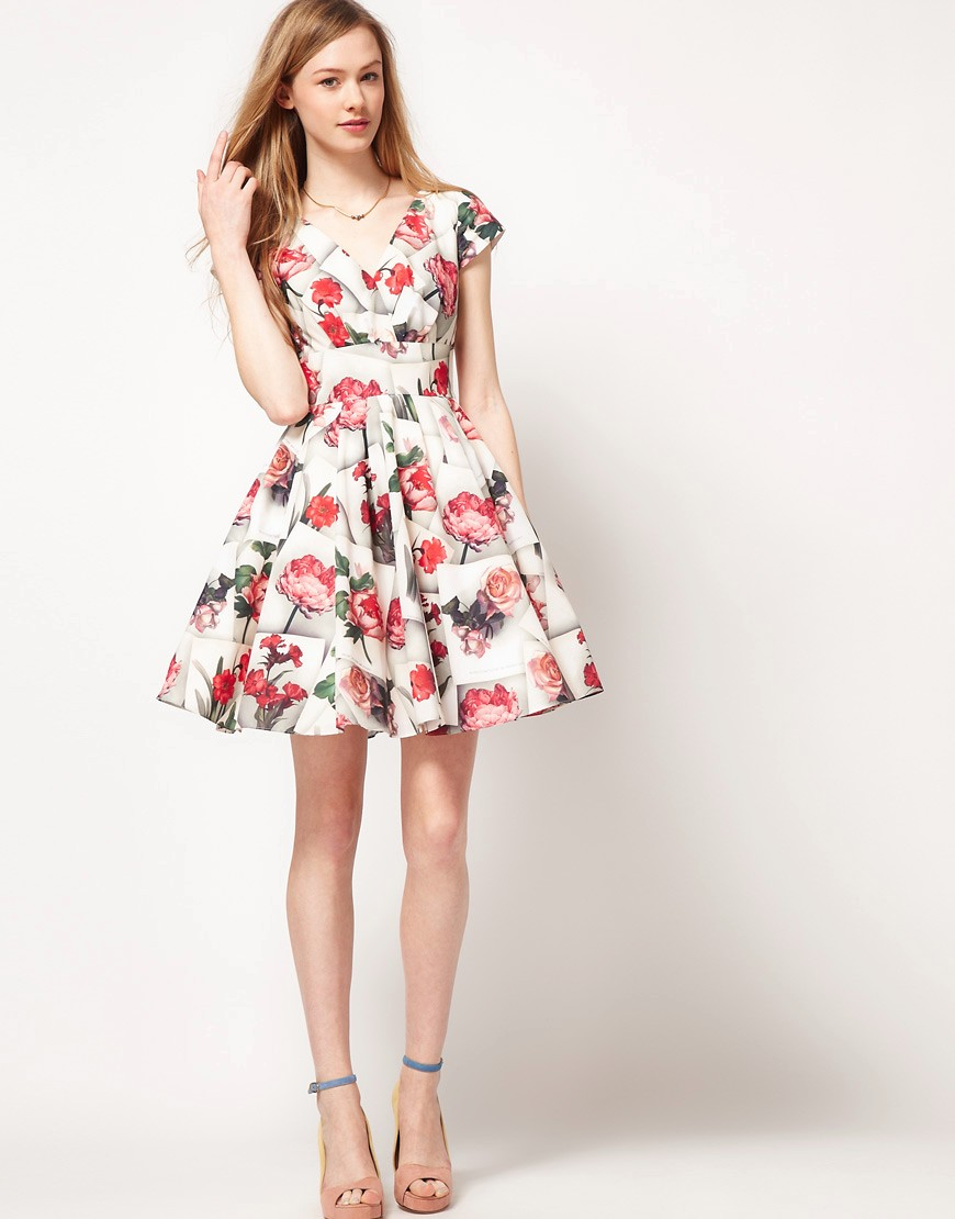 spring and summer Floral Print Strappy Dress  (12)